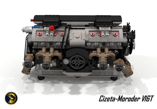 Cizeta-Moroder V16T Supercar & UCS 6.0L V16 Engine (1991)