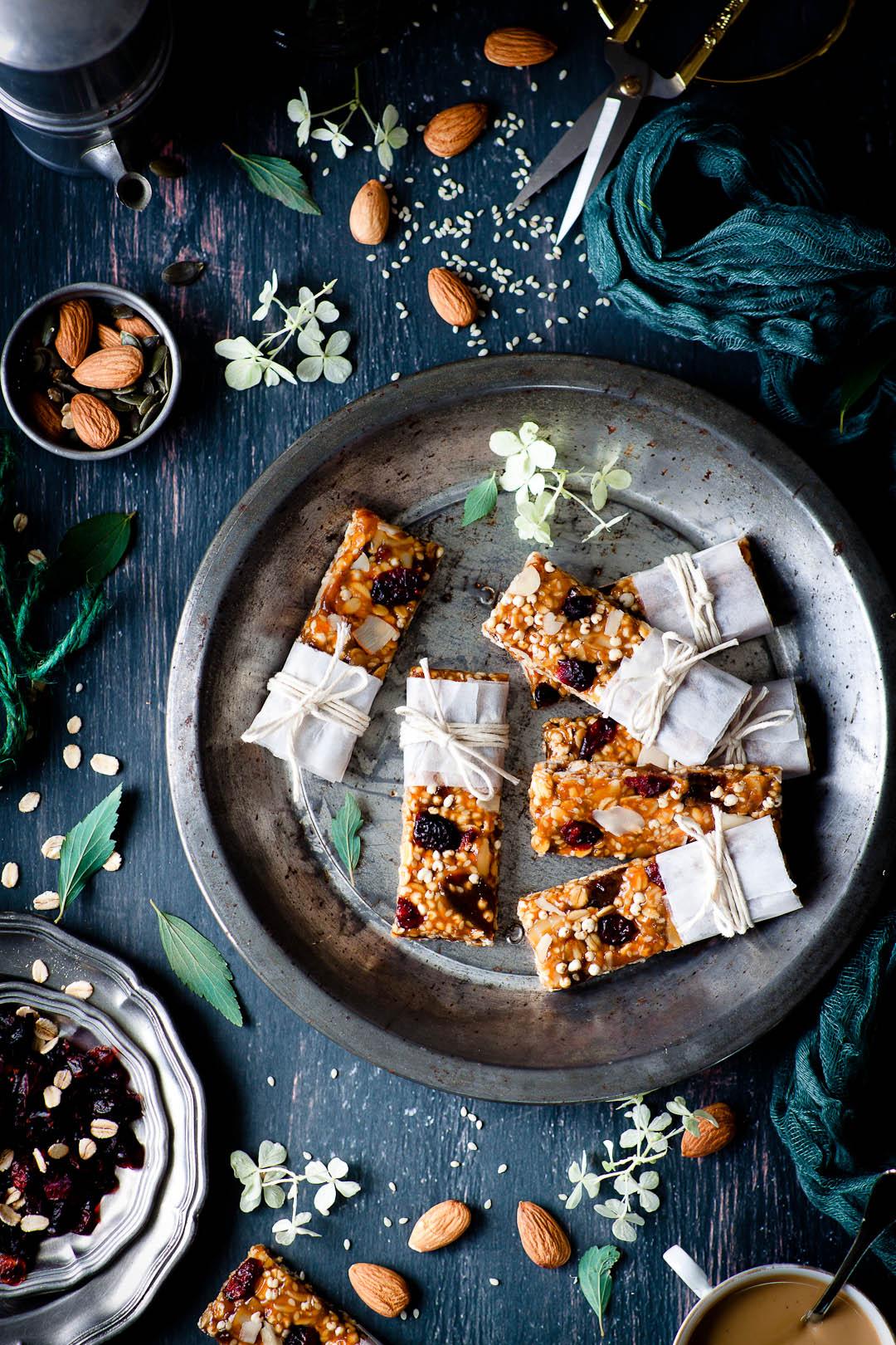 energy granola bars, vegan&gf