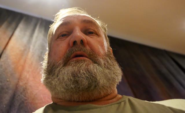 DSC_3097a Shoreditch Studio London MGS Selfie Portrait with his Ernest Hemingway COVID-19 Coronavirus Lockdown Beard Post Trim