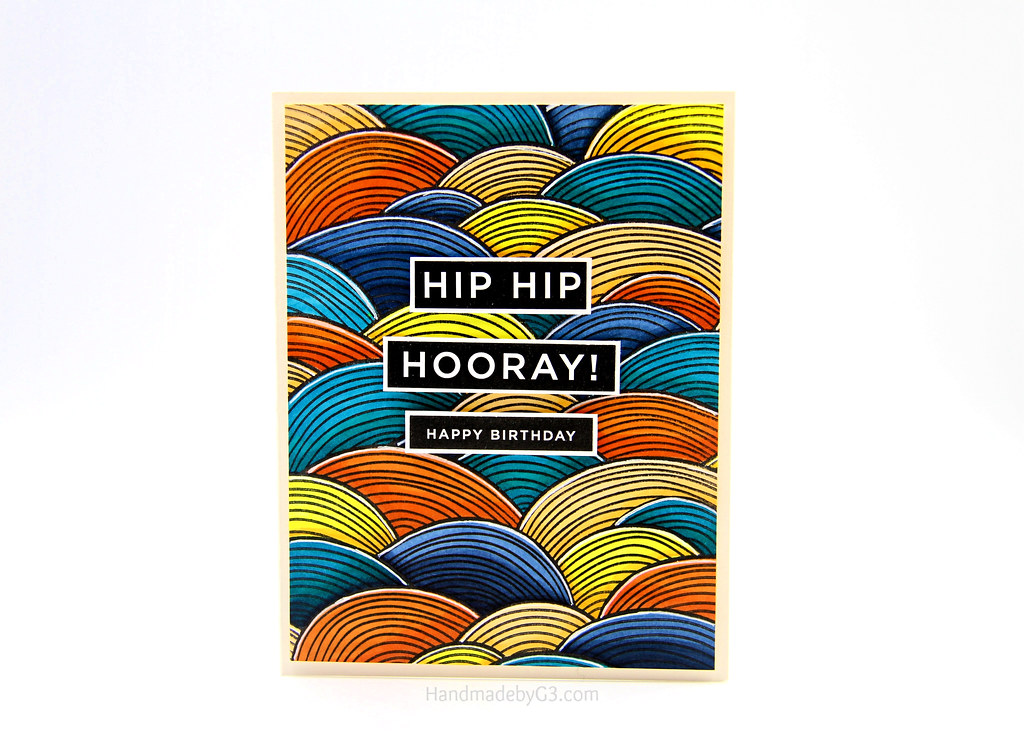 Hip Hip Hooray HB card