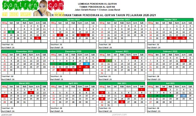 kalender-pendidikan-taman-Pendidikan-Al-Qur'an