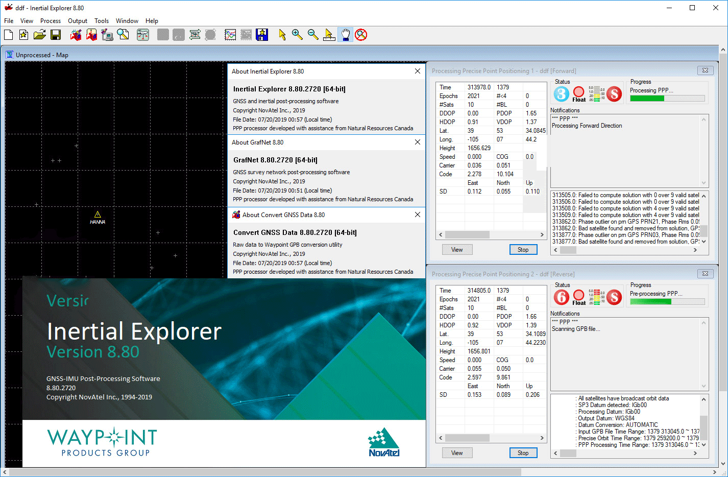 Working with NovAtel Inertial Explorer 8.80.2720 full license