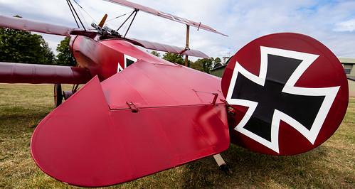 Red Baron's Fokker tri-plane replica..
