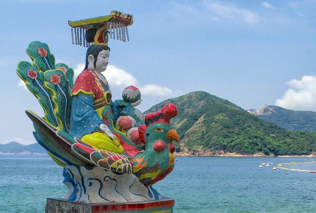 Tin Hau, Empress of Heaven, at Kwan Yam Shrine, Hong Kong