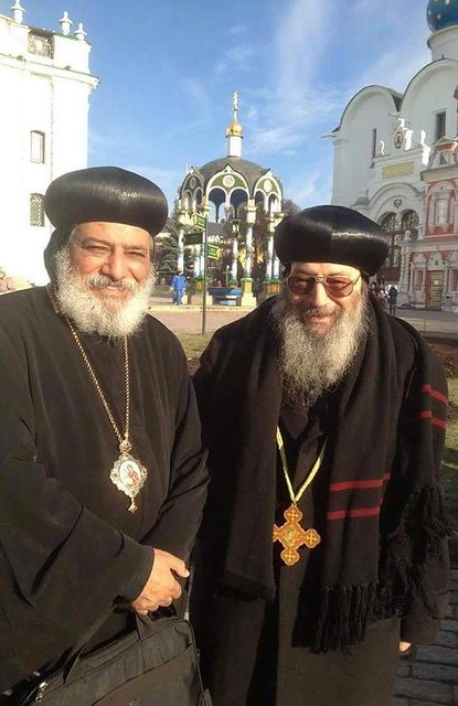 الأنبا بيشوي مطران دمياط مع الأنبا كيرلس أسقف ميلانو