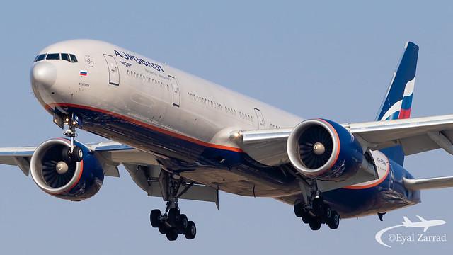 TLV - Aeroflot Boeing 777-300 VP-BGB