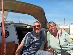 Peter & Truus on his boat at Wiek, Rügen