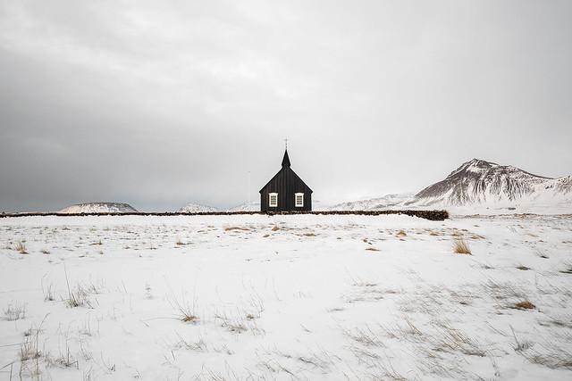 Budir Church, Snæfellsnes Peninsula, Western Iceland
