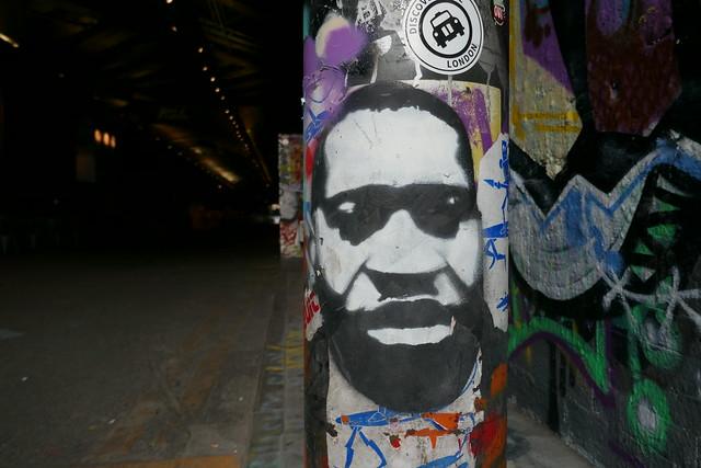 George Floyd stencil, Leake Street