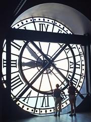 Big clock in Orsay museum
