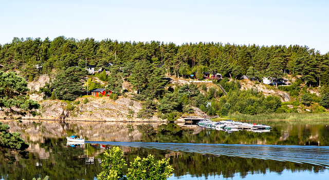 Early morning reflections on the fjord