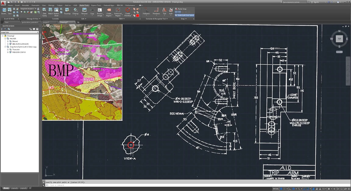Working with Autodesk AutoCAD Raster Design 2020