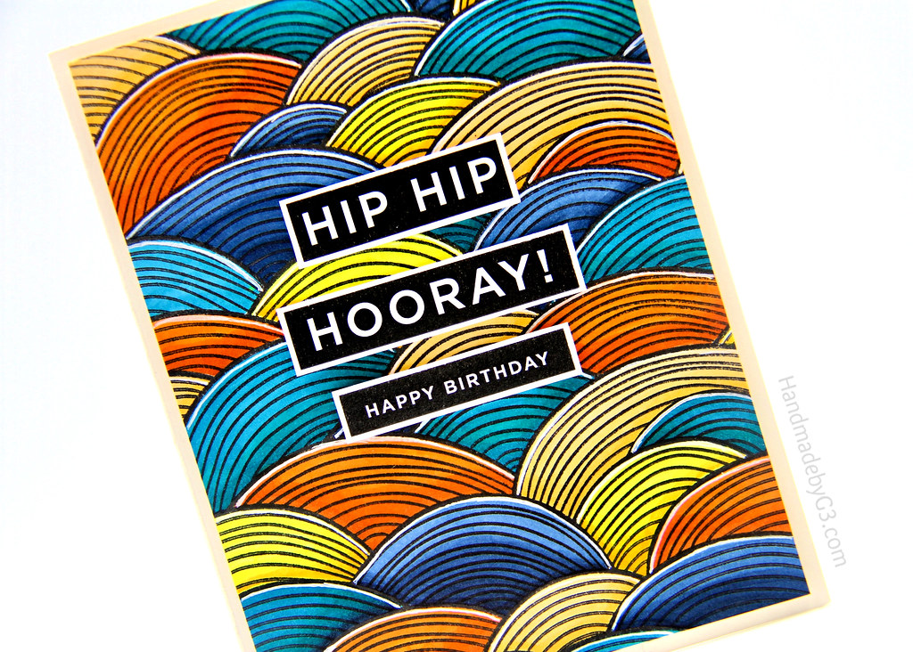 Hip Hip Hooray HB card closeup3