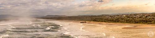 lighthousebeach portmacquarie pano panorama panoramic landscape beach hugeswell bigwave johnarmytagephotography nikond850 nikonaustralia nikon80400