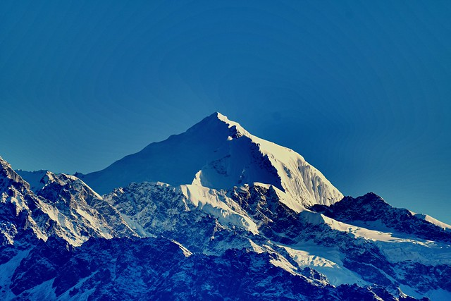 First Light of the Day in the Himalayas
