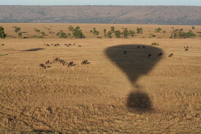 Masaï mara aerial view