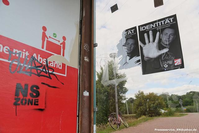 2020.08.08 Hennigsdorf - Neonazi-Kundgebung zum Tag des politischen Gefangenen (53)