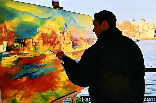 Stephen B. Whatley Painting For the Tower of London. 2000