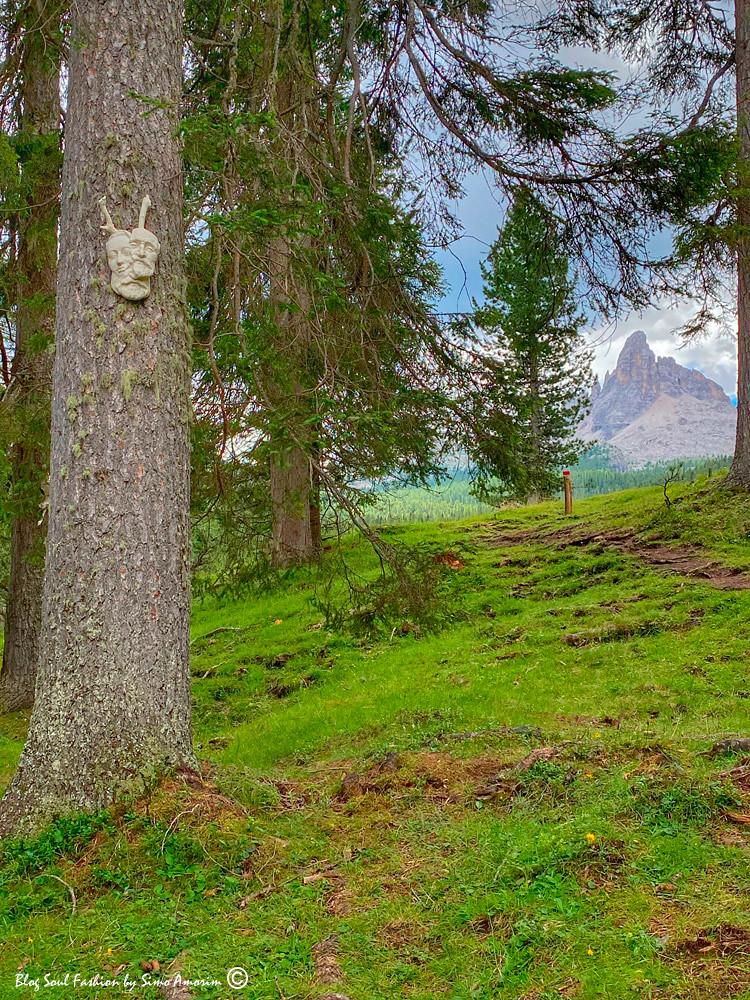 Já quase no final da trilha iniciamos a ver a montanha Becco di Mezzodí