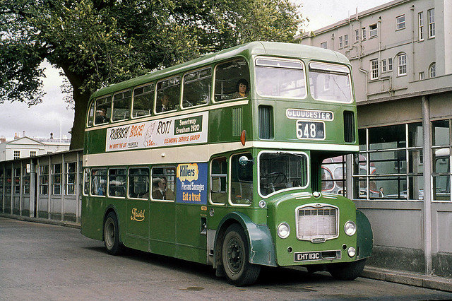 Bristol Omnibus Co . 7224 EHT113C . Cheltenham Spa , Gloucestershire . Saturday afternoon 28th-August-1971 .