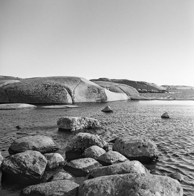 Rocks. Lysekil, Sweden. Rolleicord III