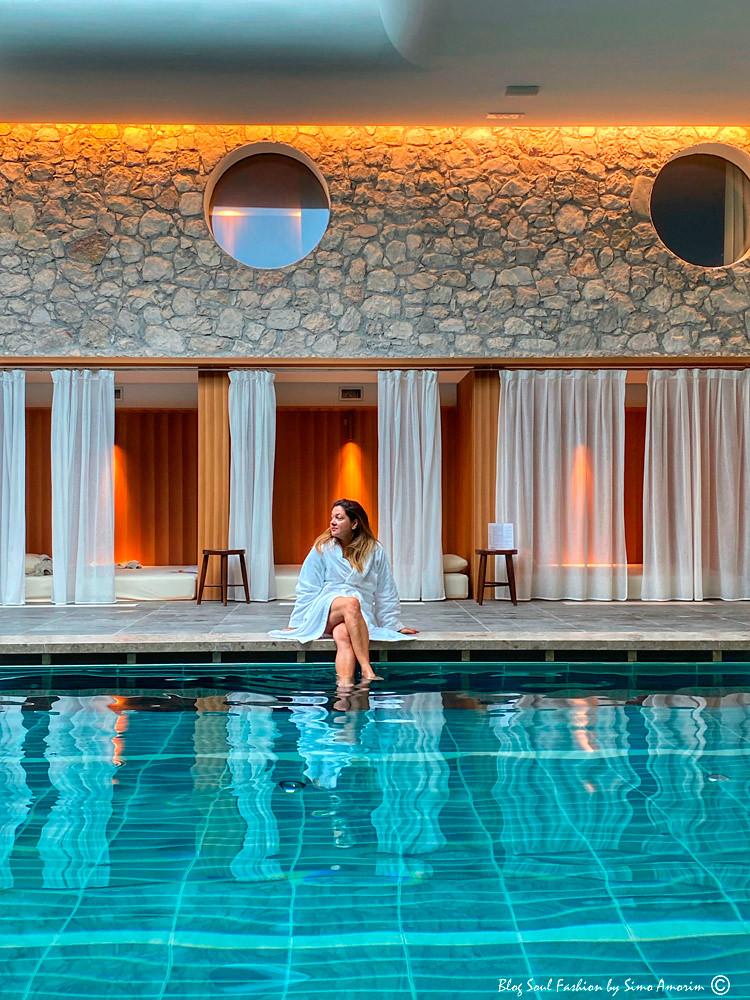 Um dos pontos fortes do hotel a área SPA e a piscina semi olímpica coberta com 25 metros!