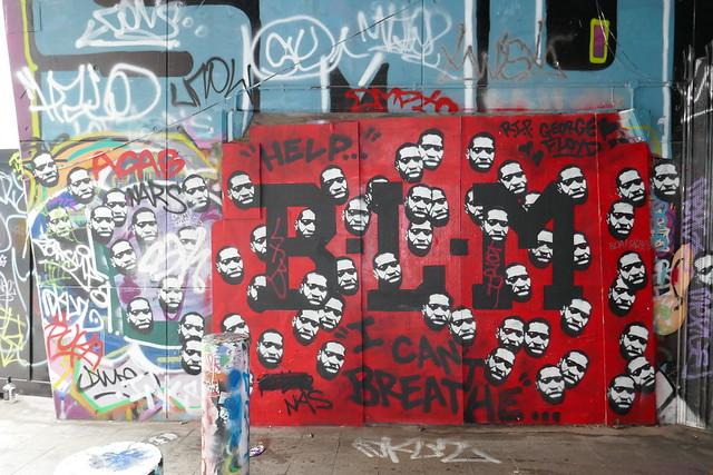 BLM graffiti, Leake Street