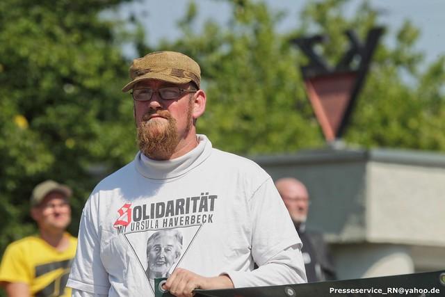 2020.08.08 Hennigsdorf - Neonazi-Kundgebung zum Tag des politischen Gefangenen (1)