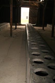 Toilet Block at Auschwitz Camp, Poland