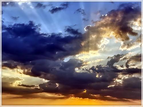 sunset sonnenuntergang wolken clouds