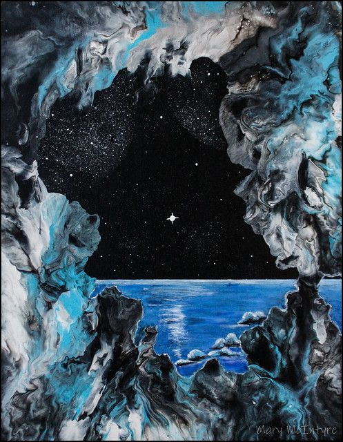 """Ice World"" Acrylic Painting by Mary McIntyre"