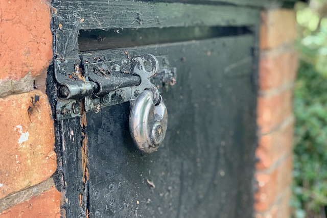 Padlocked cupboard