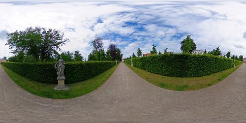 Neustrelitz - Schlosspark, Götterallee 360 Grad