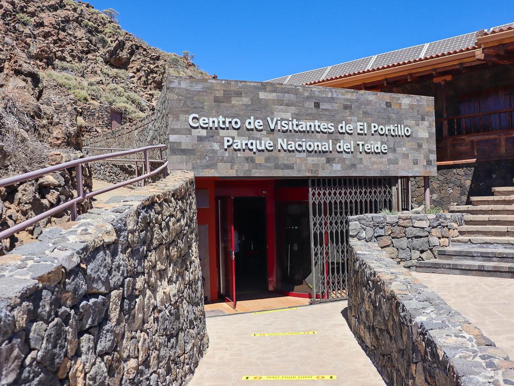 Entrada centro visitantes El Portillo en El Teide