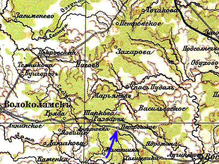 Карта Московской Губернiи 1890 года