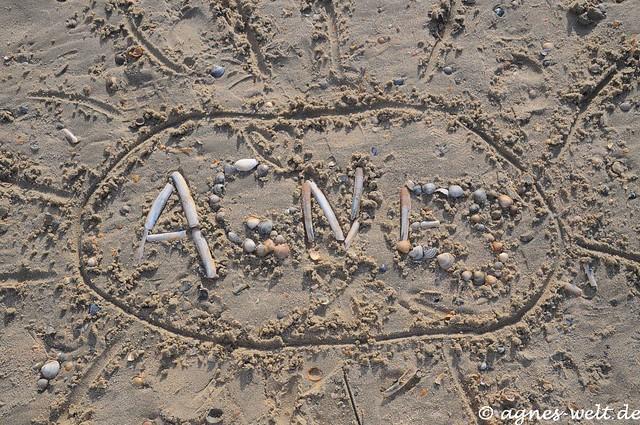 My name on the beach