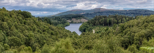 Pano shot of loch drunkie from dukes pass :)