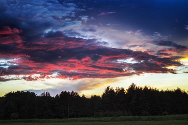Colourful evening / La nuit se colore