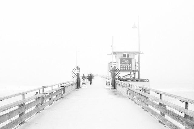 foggy pier. venice beach, ca. 2017.