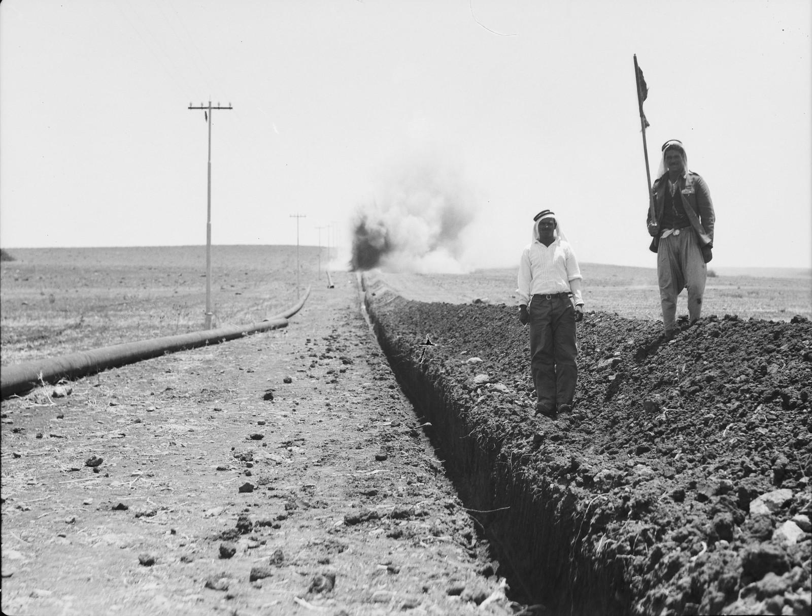 07. Подготовка траншеи для трубопровода на Изреельскую долину. Взрывные работы