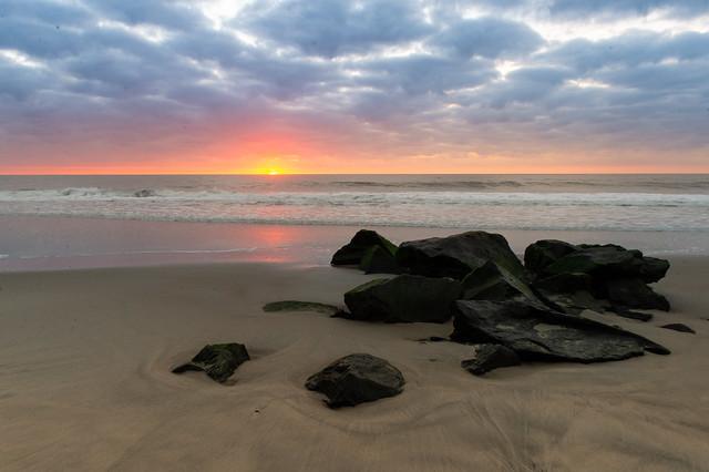 Beach, Boulders, & the Break of Day