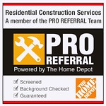 We work hand in hand with HOME DEPOT, Looking forward to hearing from you & about your new projects!