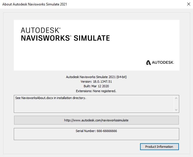 Autodesk Navisworks Simulate 2020 x64 full