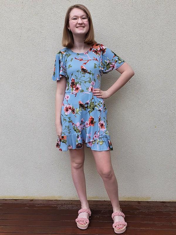 Pattern Emporium Follow Me wrap dress in Spotlight poly spandex