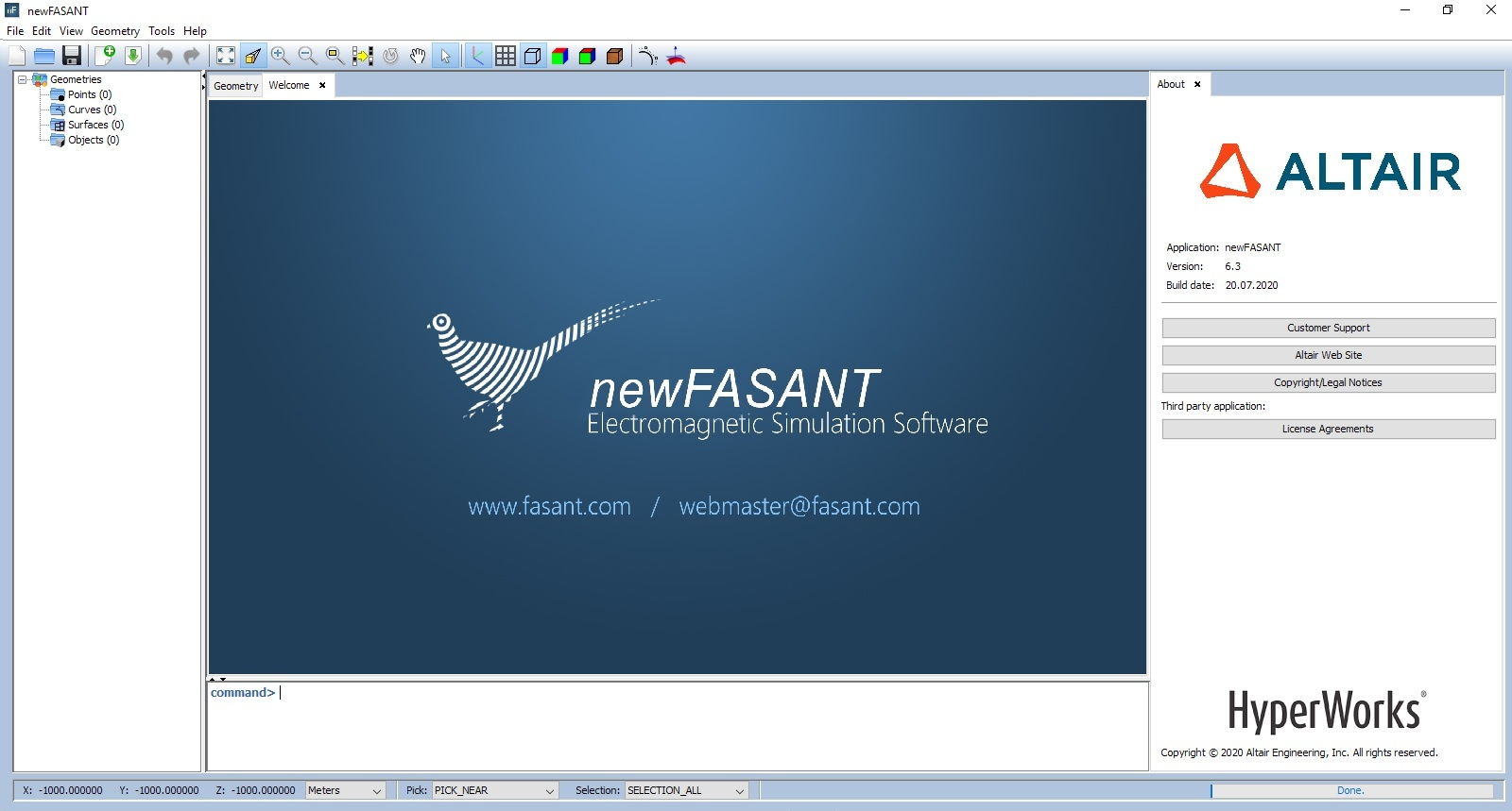 Working with Altair newFASANT 6.3.2020.07.20 full