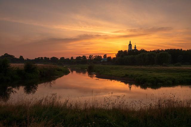 Sunset on the Sherna River
