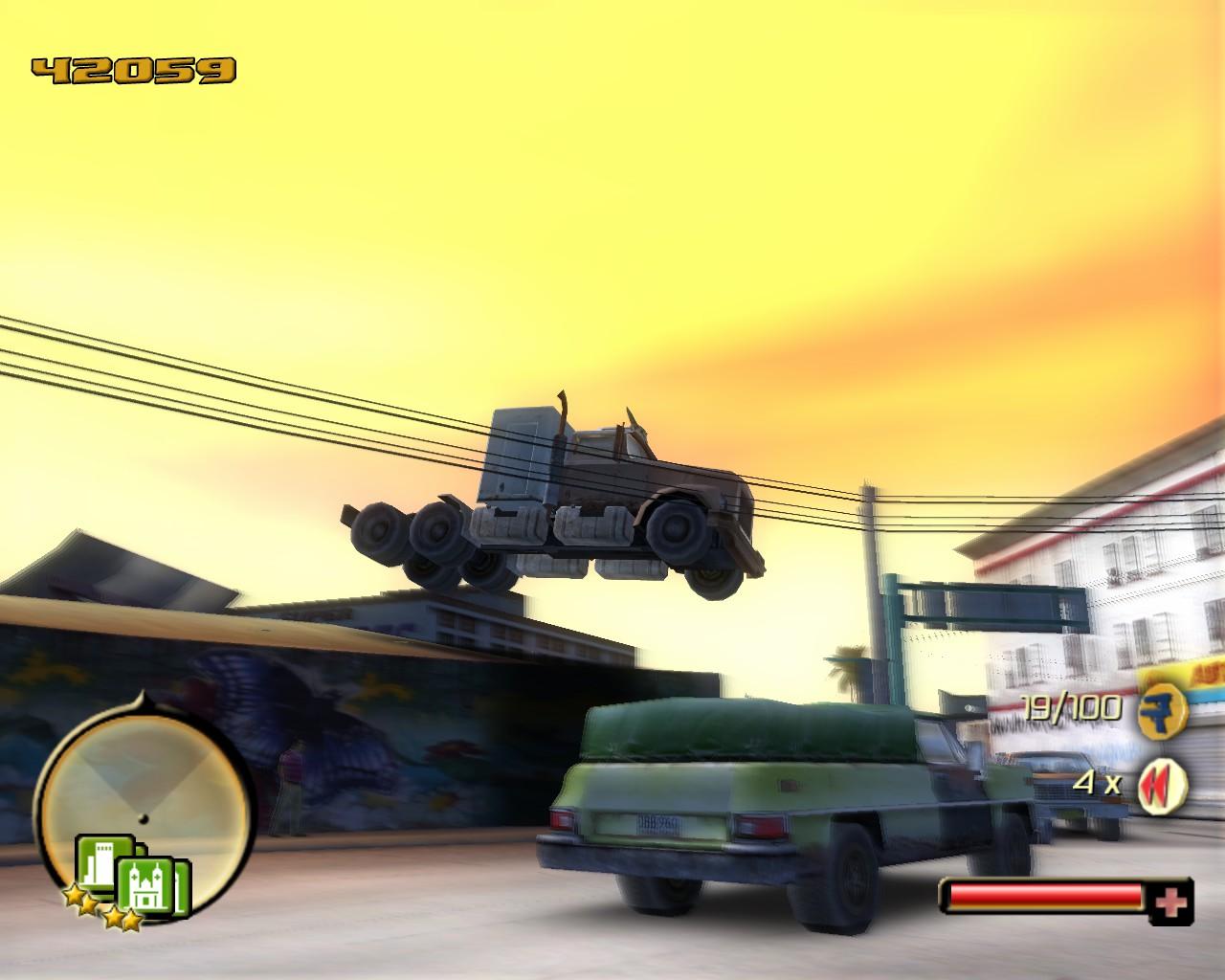 Sobredosis total: salto de camión