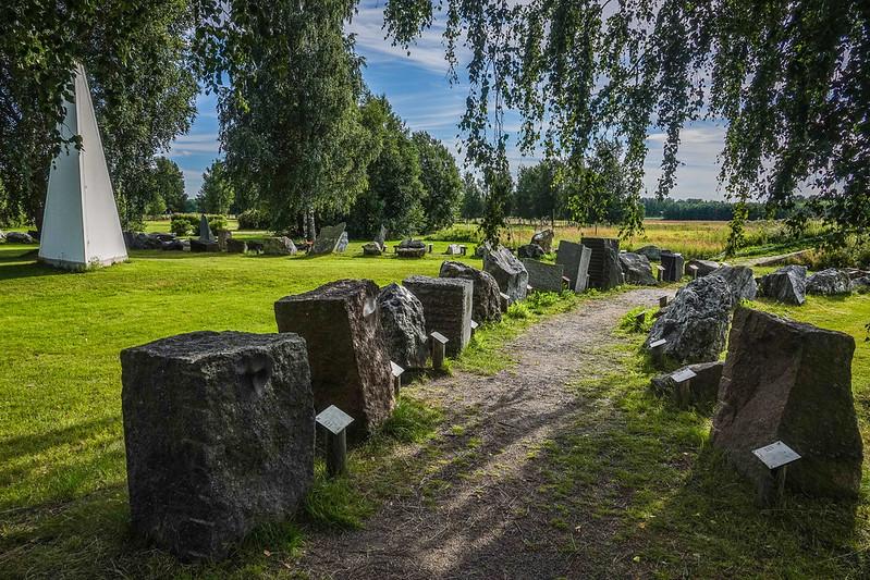 Stone garden in Oravainen
