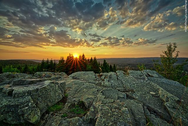 Sonnenuntergang auf dem Sonnenberg