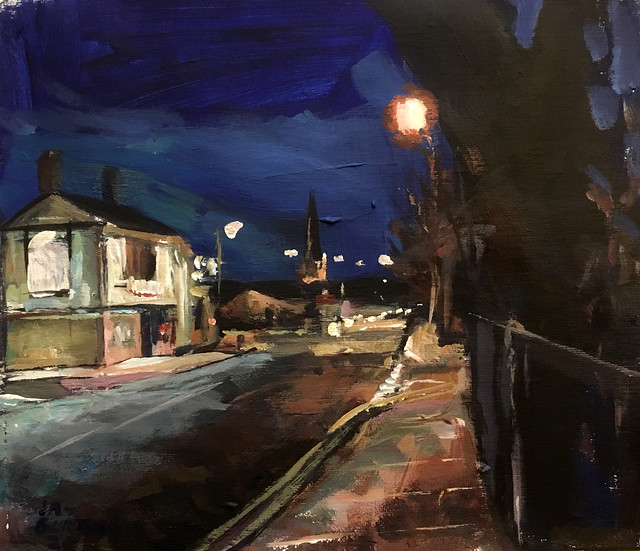 The College Public House Wakefield acrylic 12 by 10 Inches